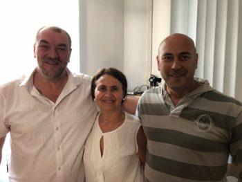 Segreteria Femca Torino-Canavese con Giuseppe Filippone-Gigante-Tonelli