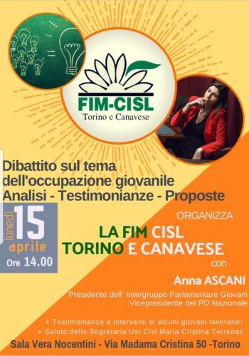 Locandina FIM 15 aprile 2019. Torino