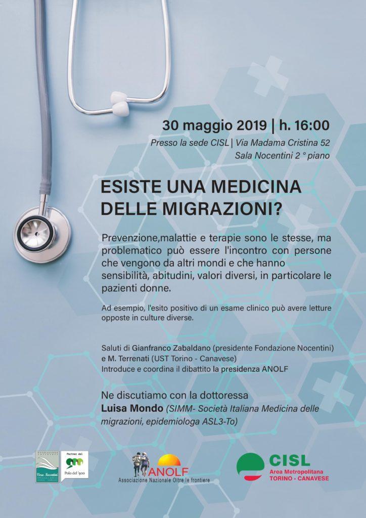 Manifesto iniziativa 30.5.2019 su Medicina delle Migrazioni