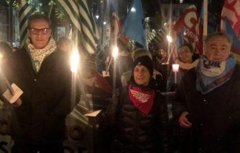 In cinquemila alla Fiaccolata di Cgil Cisl Uil contro il declino di Torino