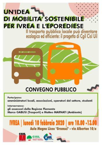 Trasporto elettrico a Ivrea: lunedì 10 il convegno di Cgil Cisl Uil Torino-Canavese