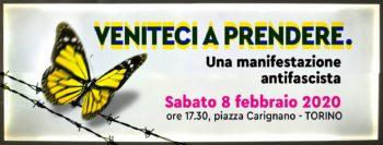 """Scritte antisemite: Cgil Cisl Uil invitano alla manifestazione """"Veniteci a prendere"""" dell'8 febbraio a Torino"""