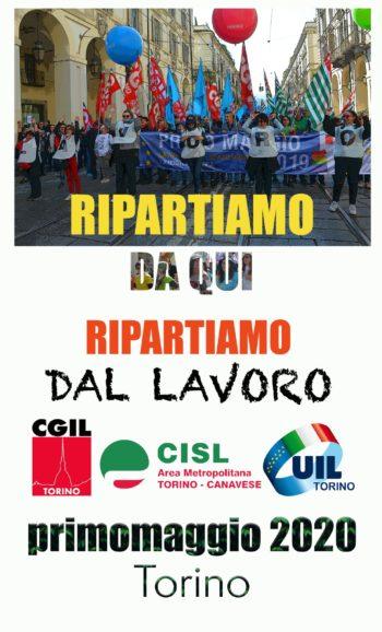 """Primo Maggio a Torino: """"Ripartiamo dal lavoro"""""""