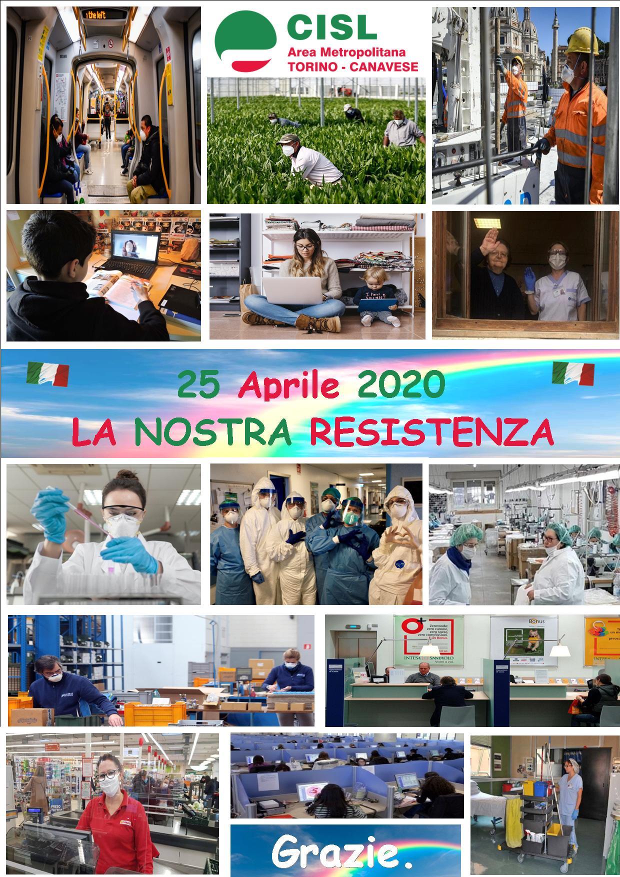 Locandina 25 aprile 2020 - la nostra resistenza