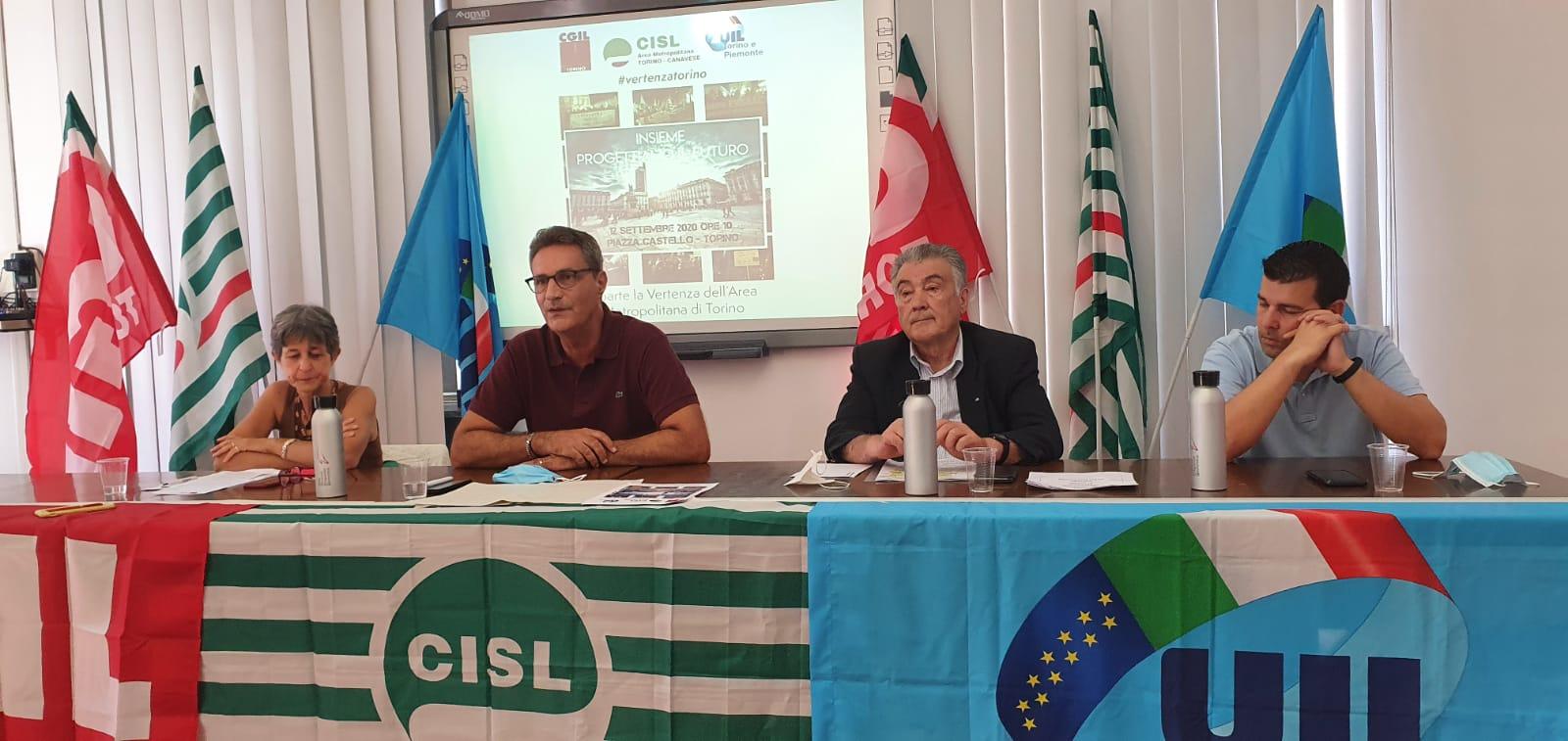 Conferenza stampa Cgil Cisl Uil 31.07.2020