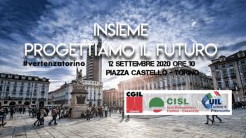 Cgil Cisl Uil domani in piazza per la rinascita di Torino