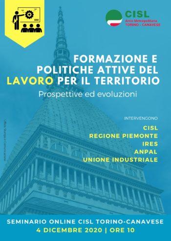 Venerdì 4 dicembre webinar su formazione e politiche attive del lavoro nell'area metropolitana