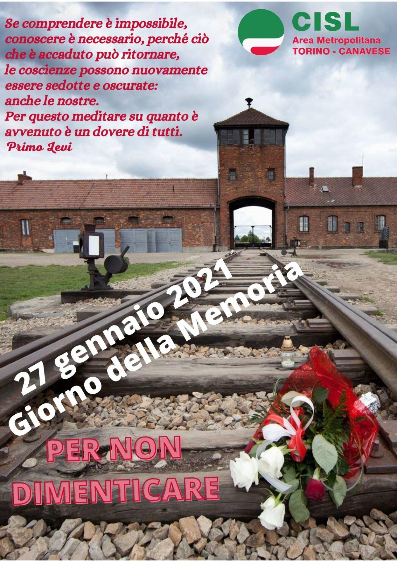 Locandina su Il Giorno della Memoria - 25 gennaio 2021