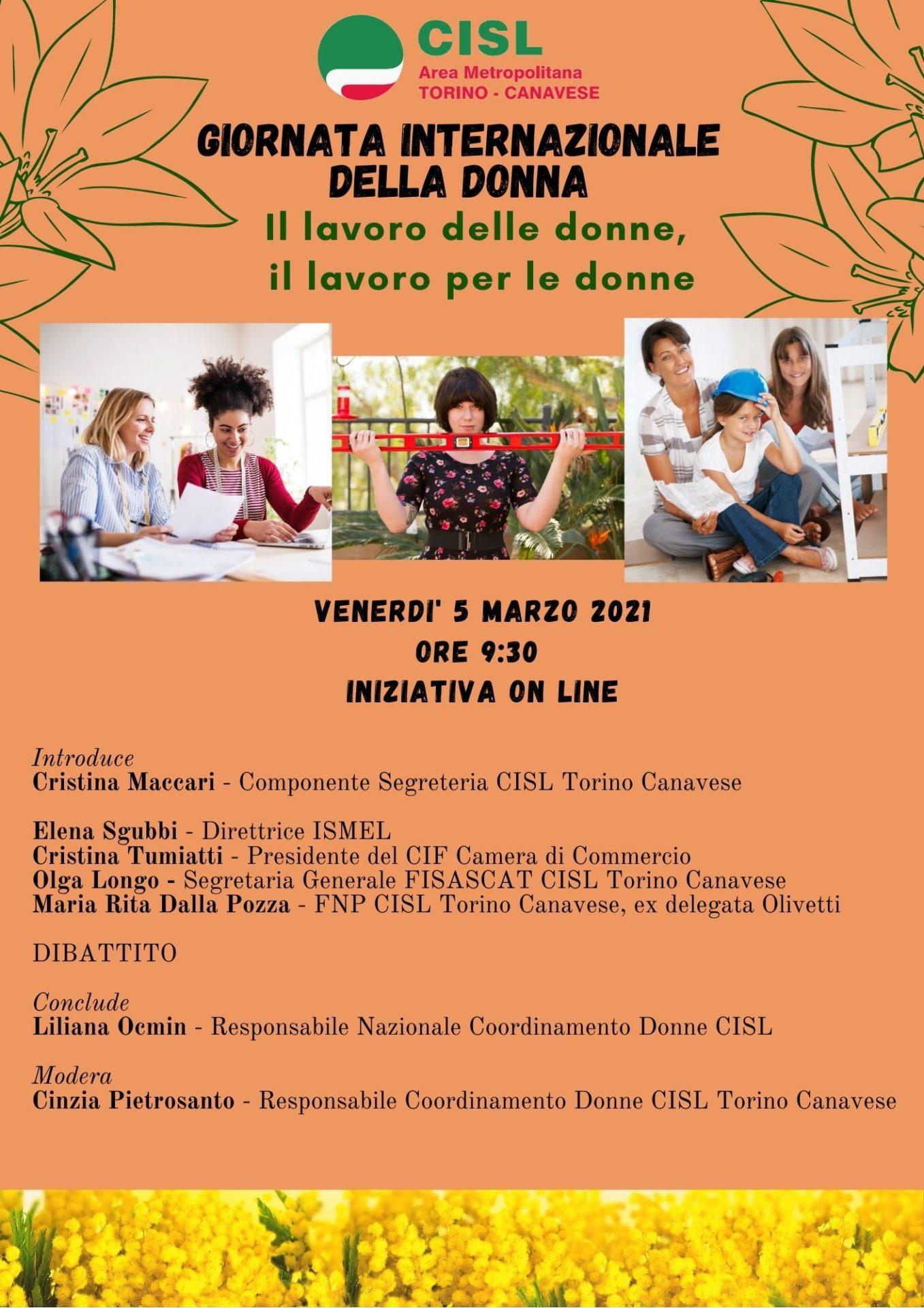 Giornata internazionale della donna 2021 - Locandina