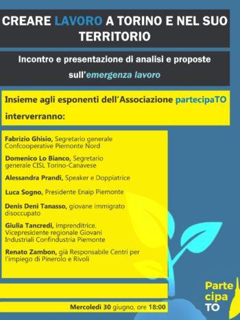 Creare lavoro a Torino e nel suo territorio