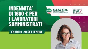 Indennità di 1600€ per i lavoratori somministrati