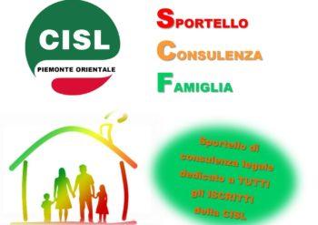 Sportello Cisl su diritto di famiglia e tutela della persona