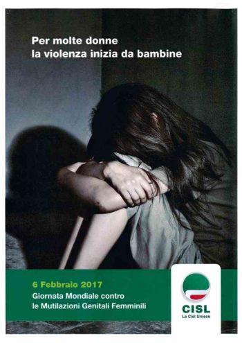 6 febbraio 2017 Giornata Mondiale contro le Multilazioni genitali femminili