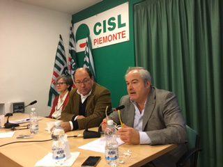Iniziativa Filca sulle pensioni con Picchio, Donnola e  Ferraris