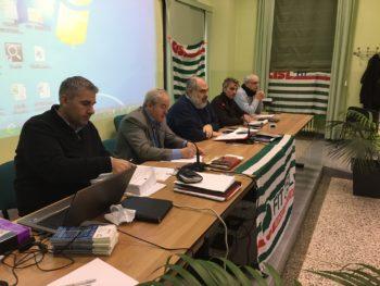 Consiglio generale Fit a Pianezza con i segretari generali Furfaro e Ferraris