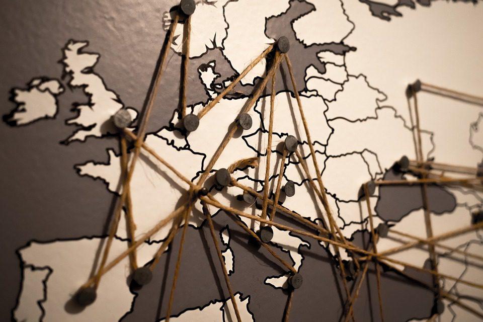 Cartina Europa bianco e nero