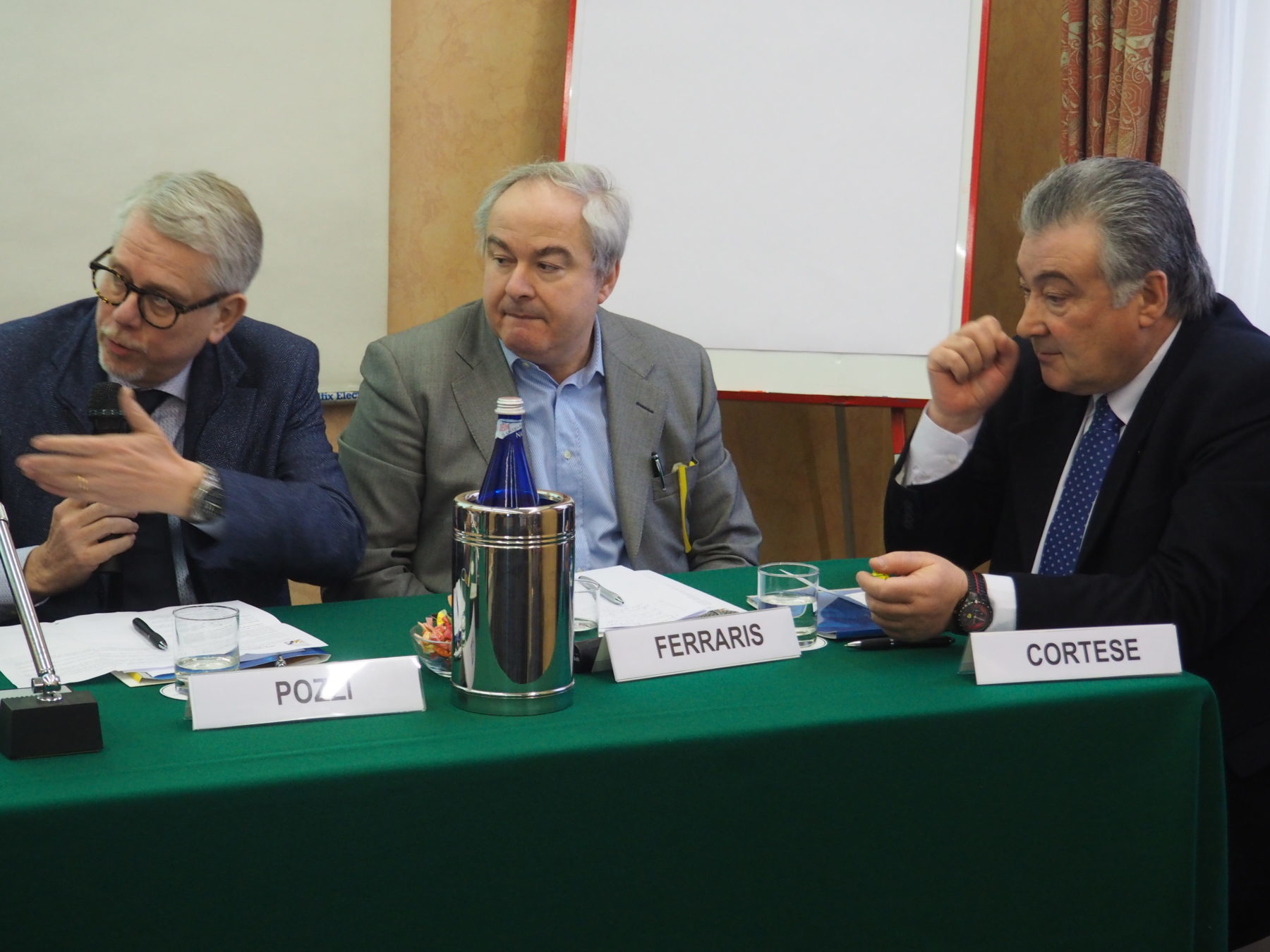 I tre segretari di Cgil Cisl Uil Piemonte: Pozzi, Ferraris e Cortese primo piano