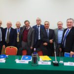 Foto di gruppo per le Confederazioni Confartigianato, Cna, Casartigiani e Cgil, Cisl, Uil del Piemonte primo piano