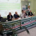Tavolo presidenza con segretario nazionale Piras primo piano