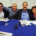 La nuova segreteria Fisascat Cisl Piemonte con Ferraris primo piano