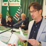 Intervento segretario Cristiano Montagnini primo piano