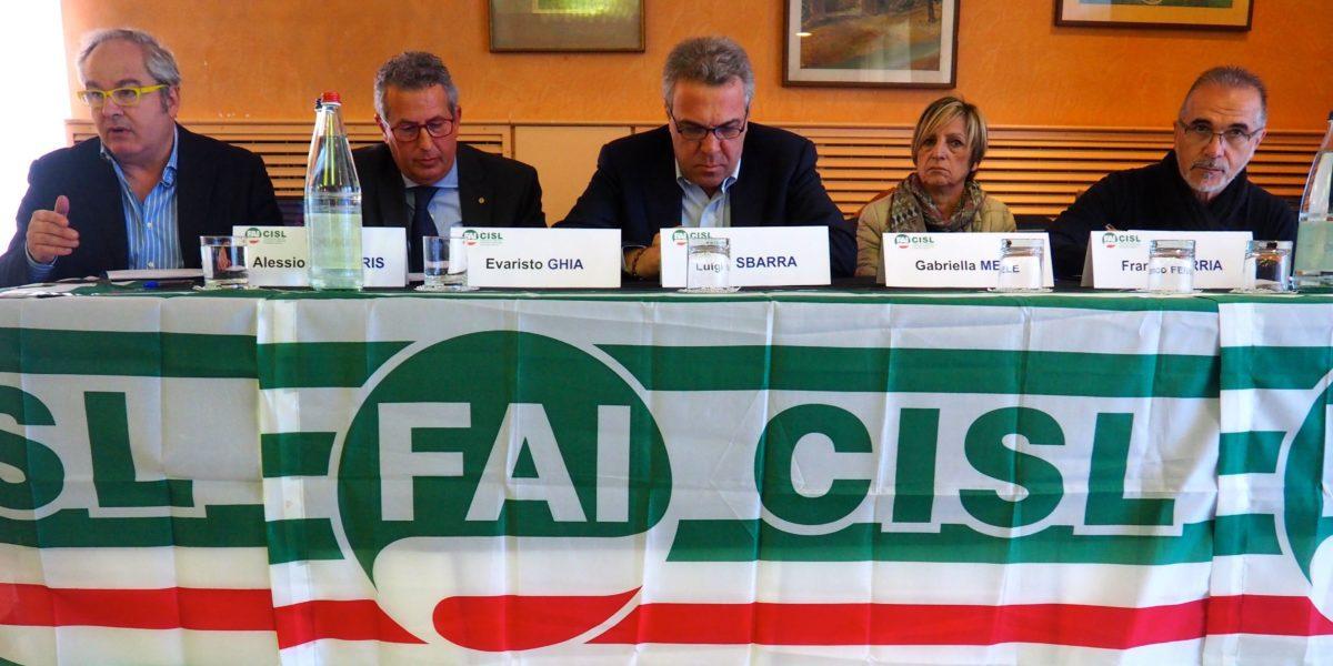 Il sesto congresso regionale Fai Cisl primo piano