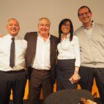 La segreteria Cisl Piemonte con Melis, Ferraris, Tomasi Cont e Baratta primo piano