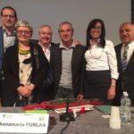 Foto di gruppo: Baratta, Furlan, Ferraris, Maggio, Tomasi Cont e Melis primo piano