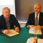 Il segretario regionale Ferraris e il presidente nazionale Ugc MInelli primo piano