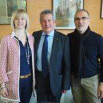 La segreteria Fai: Ivana Camisassa, Evaristo Ghia e Franco Ferria primo piano