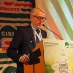 Intervento segretario Cgil Pier Massimo Pozzi primo piano