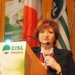 L'intervento di Teresa Olivieri (Cisl Scuola Torino) mentre parla
