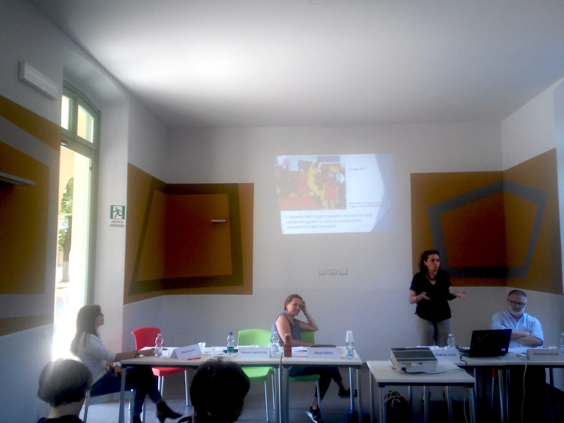 Relatori Incontro antidiscriminazioni genere Cisl Piemonte aula