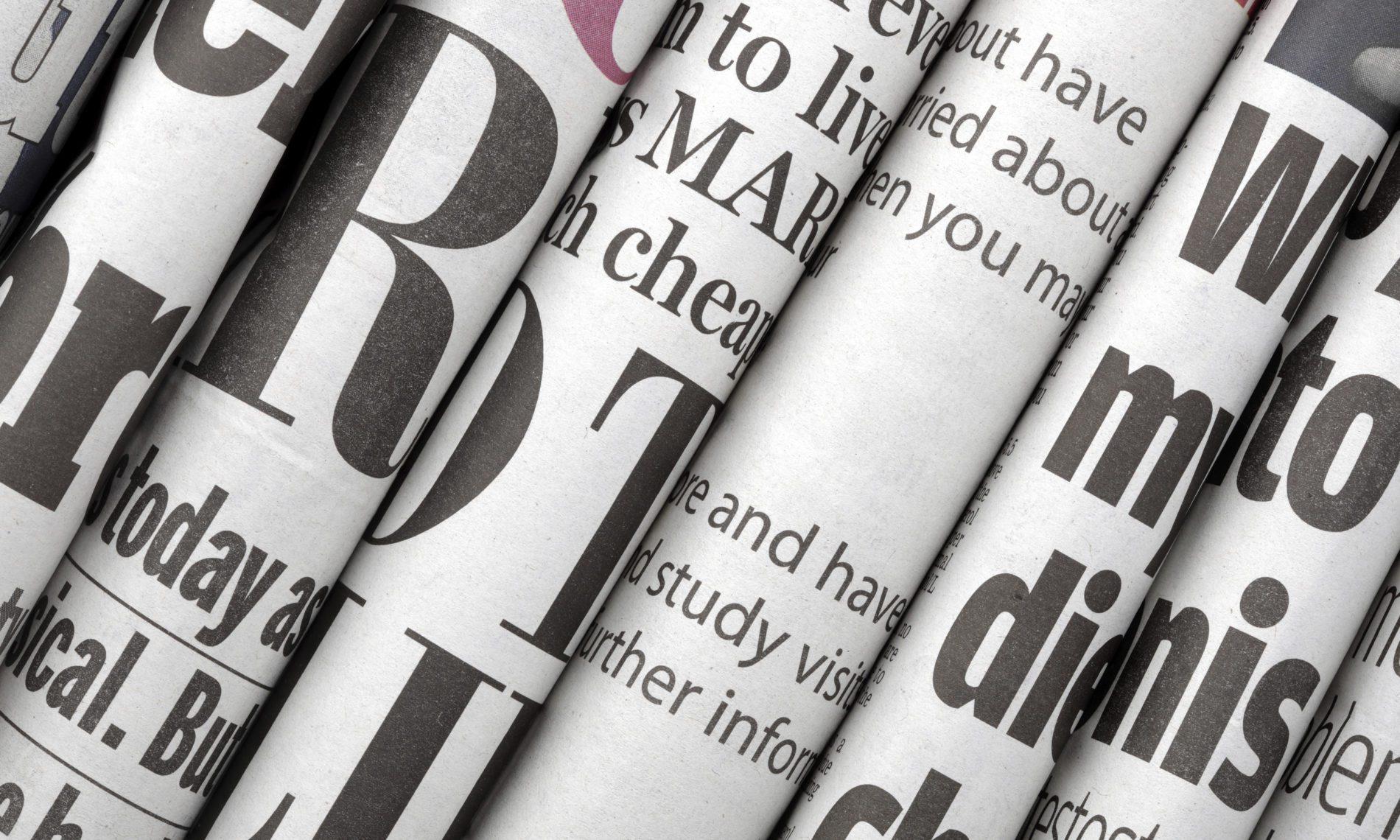 I giornali nel mondo primo piano