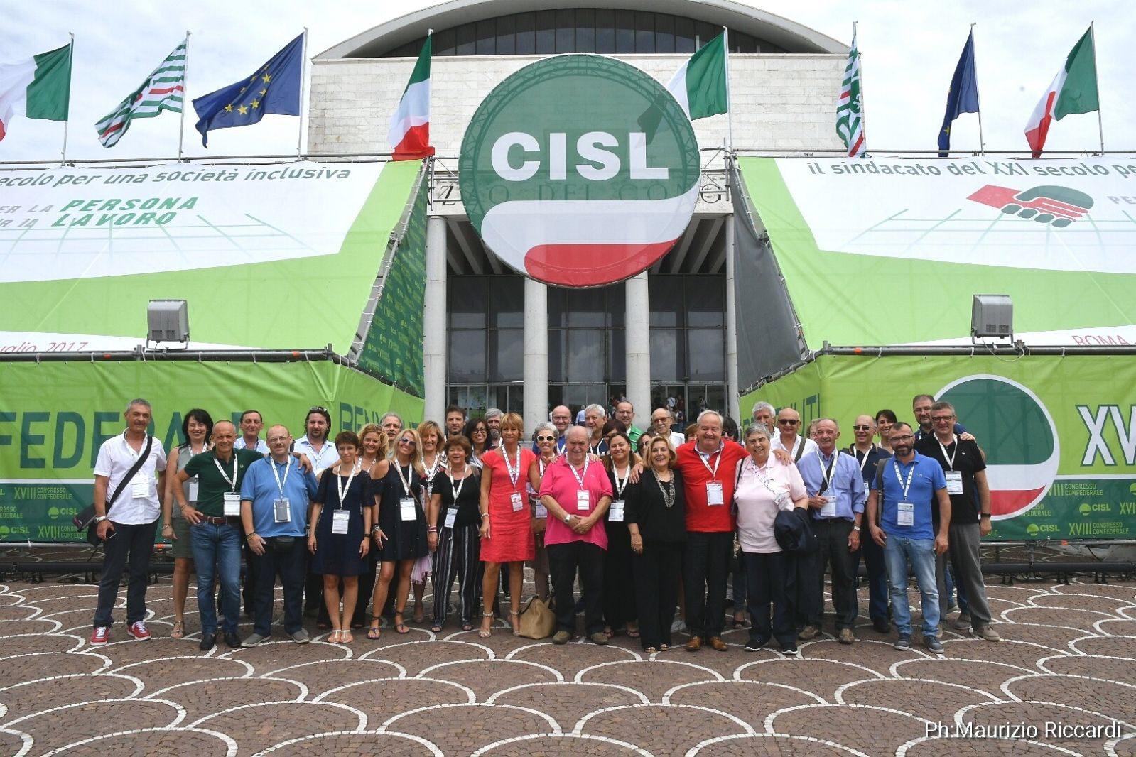 La delegazione piemontese al congresso nazionale Cisl primo piano