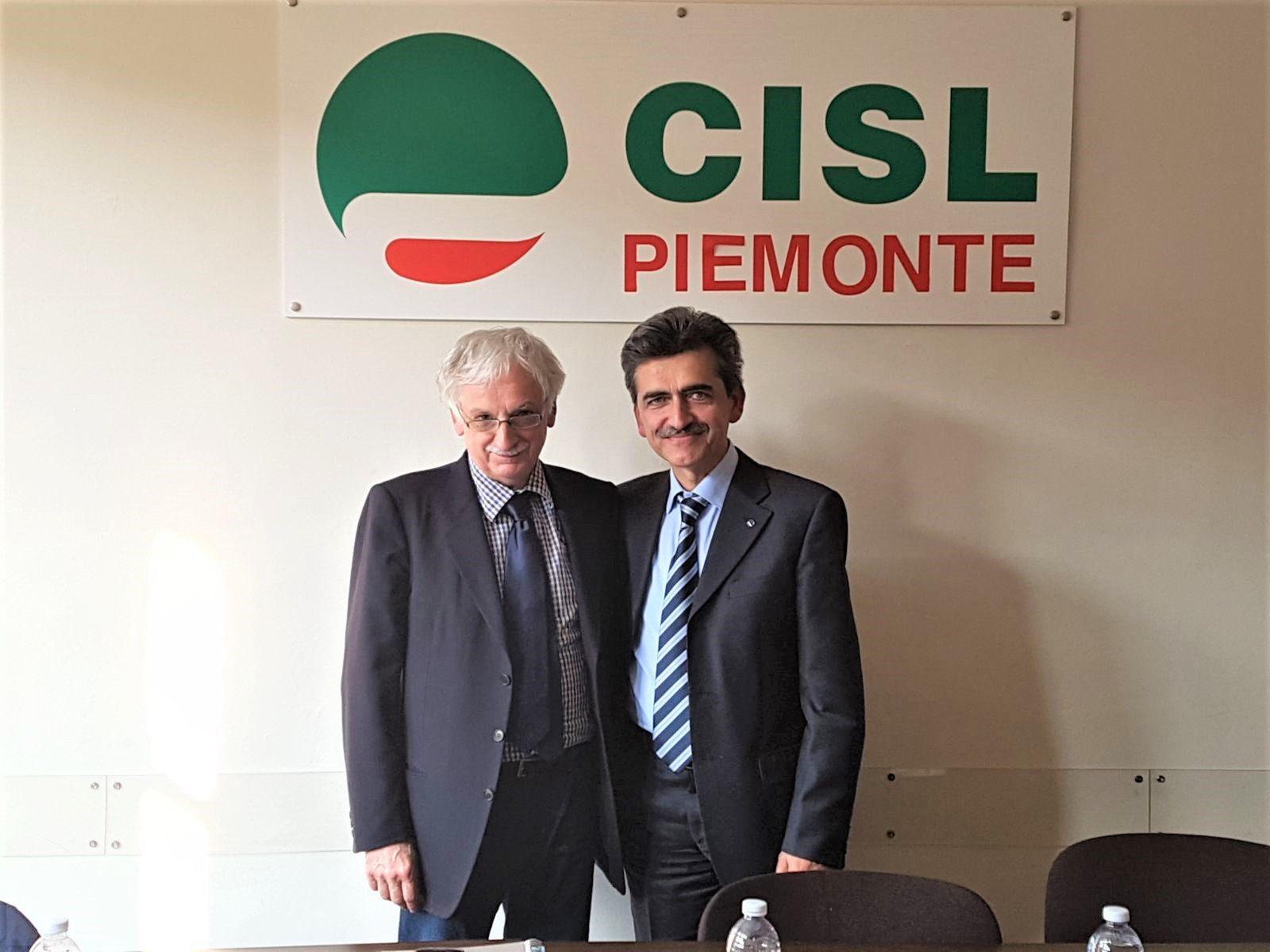 Caf Cisl: da sinistra Antonio Marchina e Sergio Didier primo piano dei due