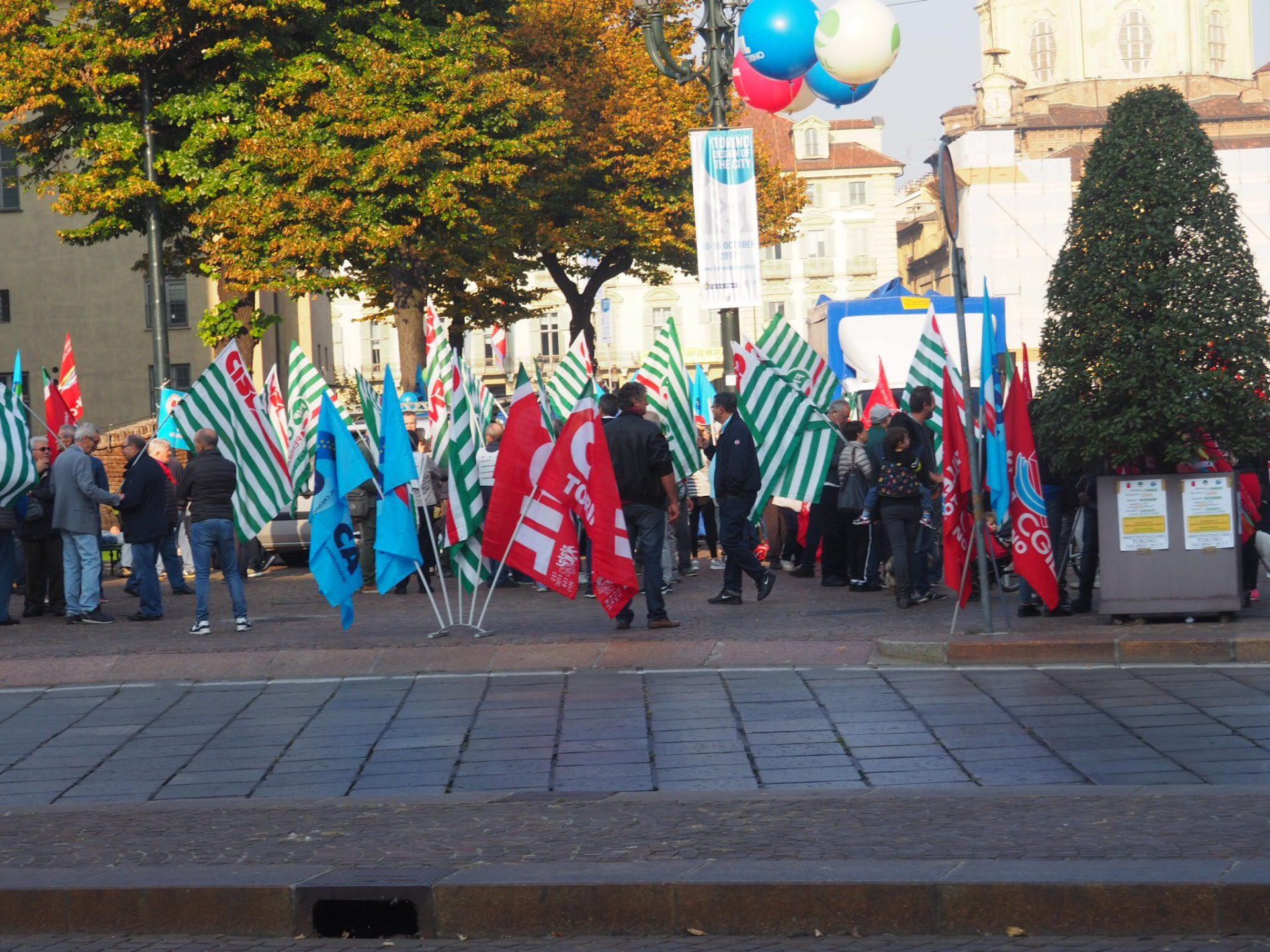 manifestazione a Torino vista