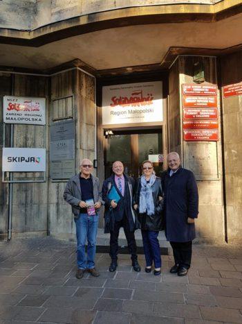 Europa a Cracovia foto di gruppo