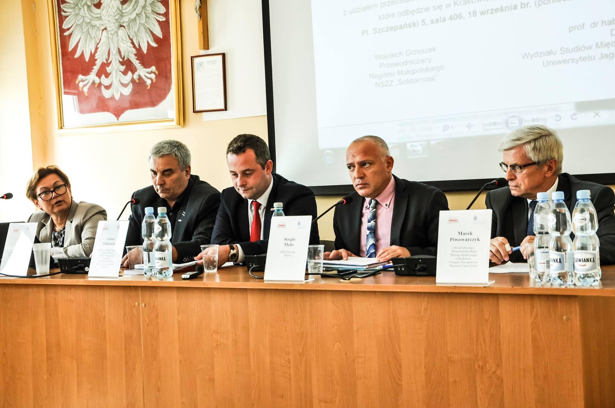 Il convegno sull'Europa a Cracovia primo piano