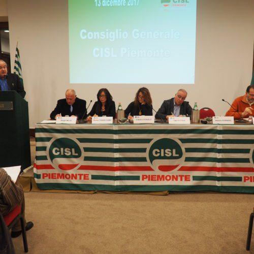 Consiglio generale Cisl Piemonte del 13/12/2017 presidenza
