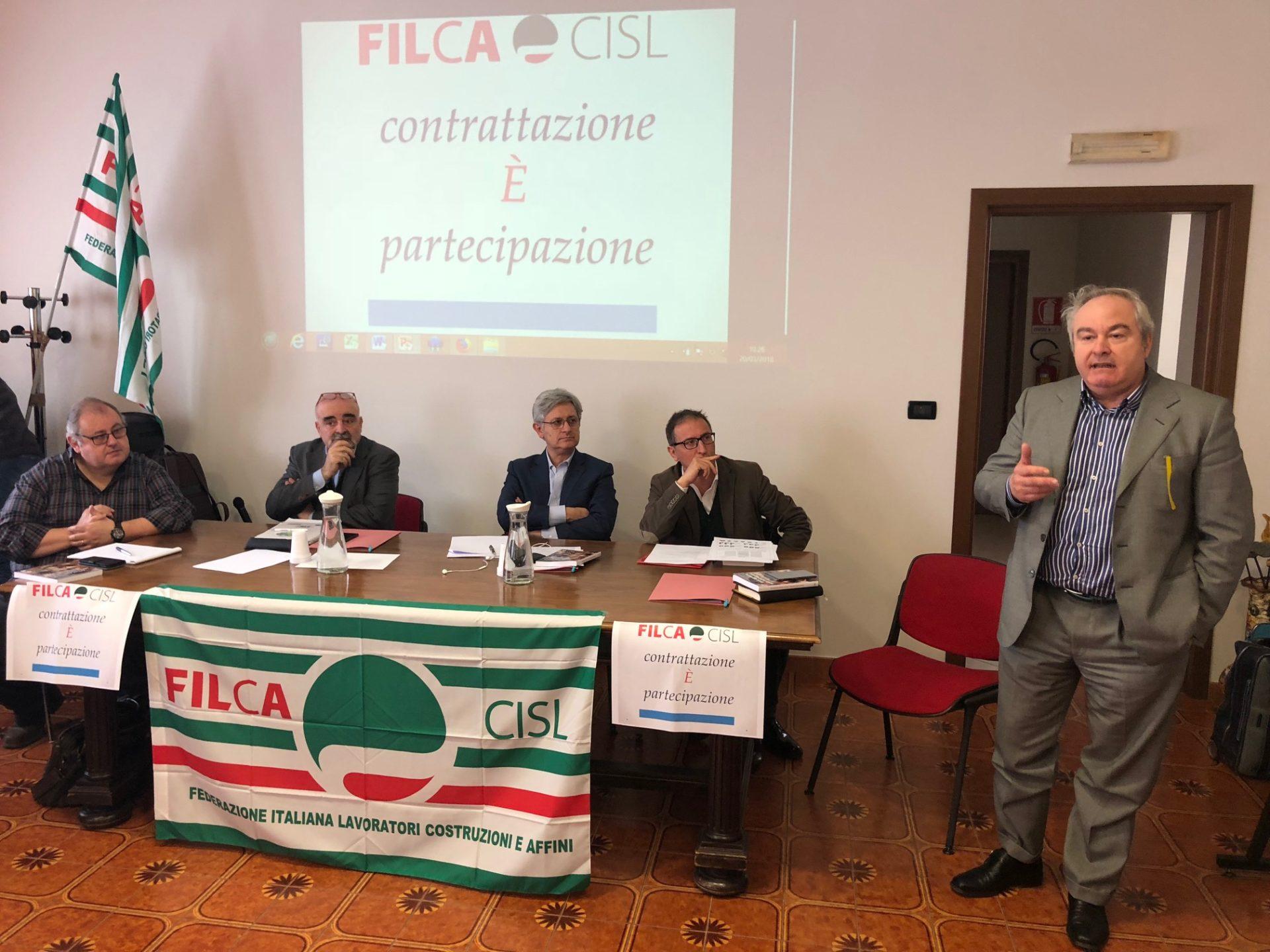 Alessio Ferraris al convegno nazionale Filca primo piano
