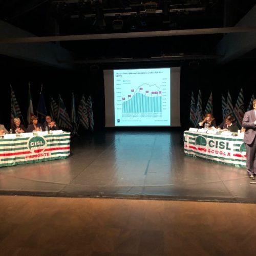 Durante l'intervento di Andrea Gavosto - Direttore della Fondazione Agnelli