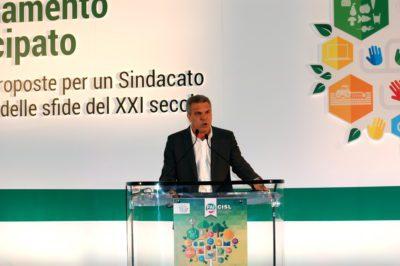 Il numero due della Cisl, Luigi Sbarra, al Consiglio generale della Cisl Piemonte