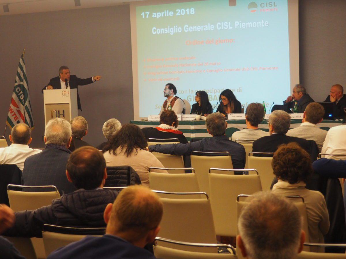 Sbarra a Torino per C G. Cisl Piemonte