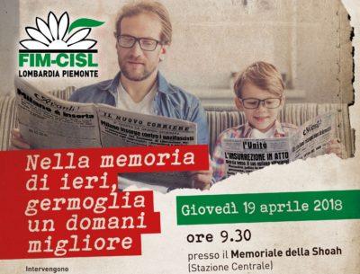 Memoria e antifascismo con Fim Lombardia e Piemonte al Memoriale della Shoa di Milano