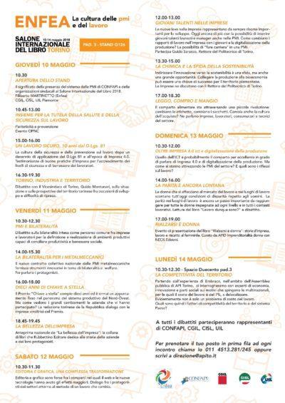 LE PMI AL SALONE DEL LIBRO Programma degli eventi - per sito