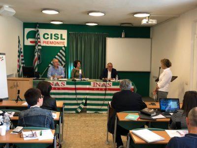 Il Comitato Regionale Inas Piemonte con il presidente nazionale Gigi Petteni