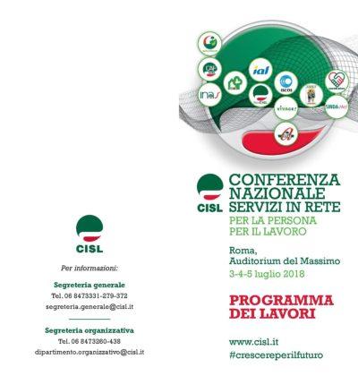 Conferenza Nazionale Servizi Cisl: da domani 3 a giovedì 5 all'Auditorium Massimo di Roma con Furlan, Di Maio e Boeri