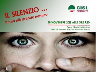 Molestie e violenza nei luoghi di lavoro: mercoledì 28 il focus della Cisl Piemonte
