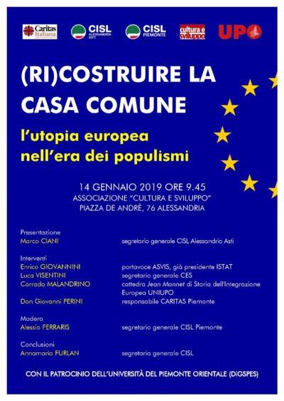 Locandina (RI) COSTRUIRE LA CASA COMUNE - L'utopia europea nell'era dei populismi